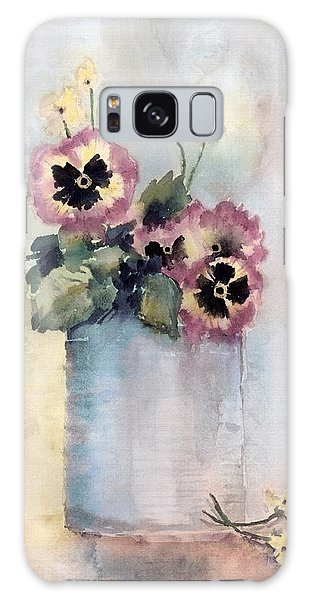 Pansies In A Can Galaxy Case