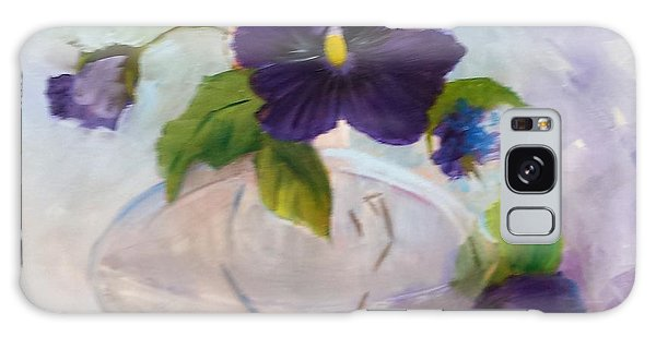 Pansies In Glass Galaxy Case