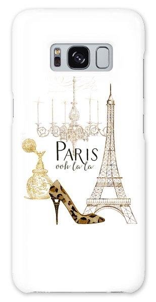 Paris - Ooh La La Fashion Eiffel Tower Chandelier Perfume Bottle Galaxy Case by Audrey Jeanne Roberts