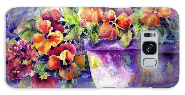 Patio Pansies Galaxy Case