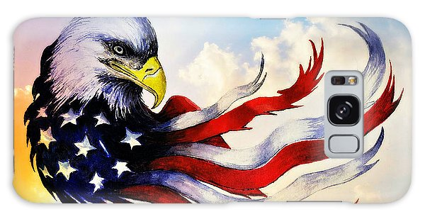 Feather Stars Galaxy Case - Patriotic Eagle by Andrew Read