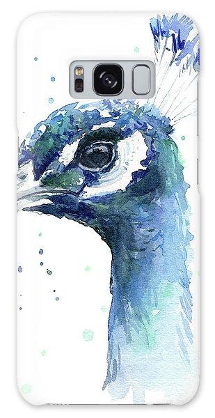 Peacocks Galaxy Case - Peacock Watercolor by Olga Shvartsur