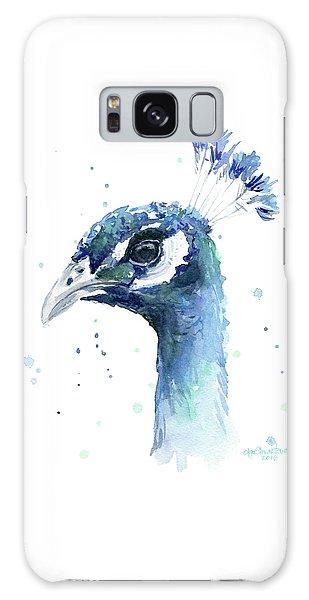 Peacock Watercolor Galaxy Case