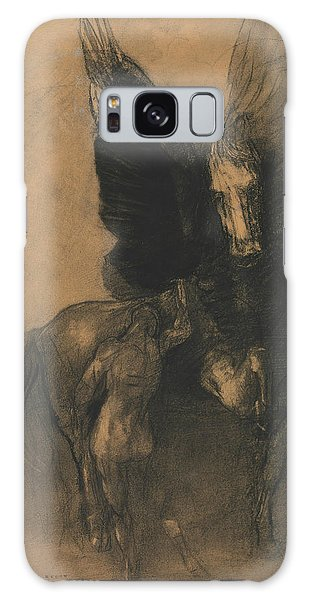 Pegasus And Bellerophon Galaxy Case by Odilon Redon