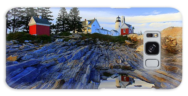 Pemaquid Point Light Reflections Galaxy Case