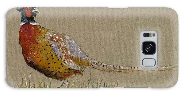 Pheasant Galaxy S8 Case - Pheasant Bird Art by Juan  Bosco