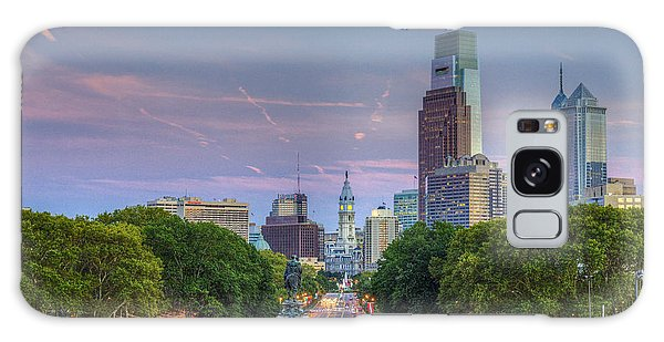 Philadelphia Cityscape Galaxy Case