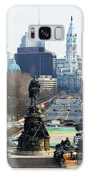 Philadelphia - The Parkway Galaxy Case by Cindy Manero