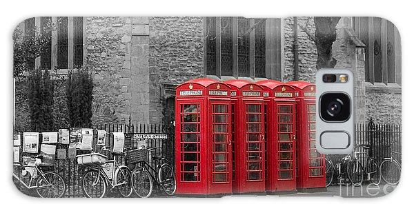 Phonebox In Red Galaxy Case by David Warrington