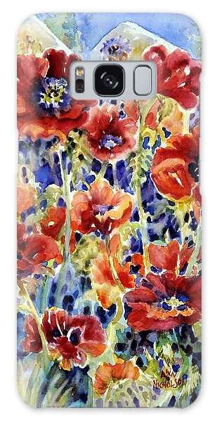 Picket Fence Poppies Galaxy Case