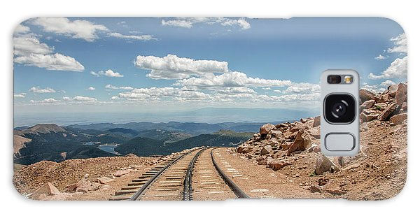Pikes Peak Cog Railway Track At 14,110 Feet Galaxy Case by Peter Ciro