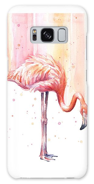 Pink Flamingo - Facing Right Galaxy S8 Case
