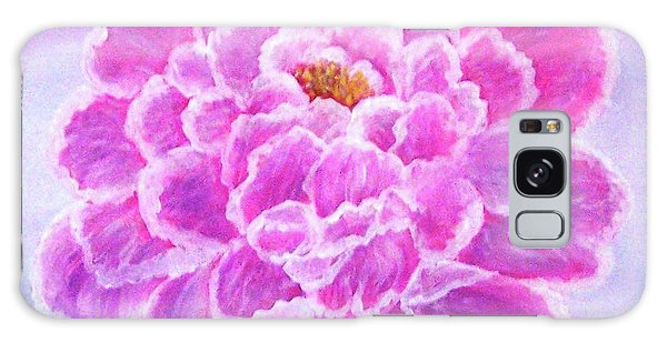 Galaxy Case featuring the painting Pink Peony by Sonya Nancy Capling-Bacle