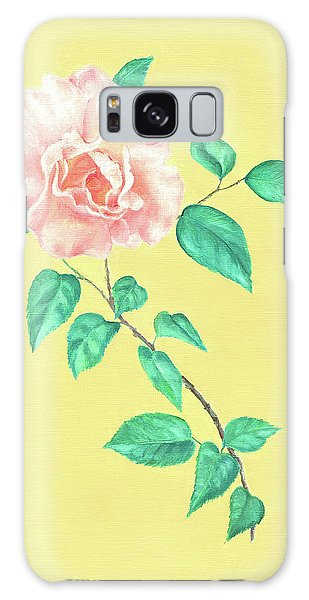 Galaxy Case featuring the painting Pink Rose by Elizabeth Lock