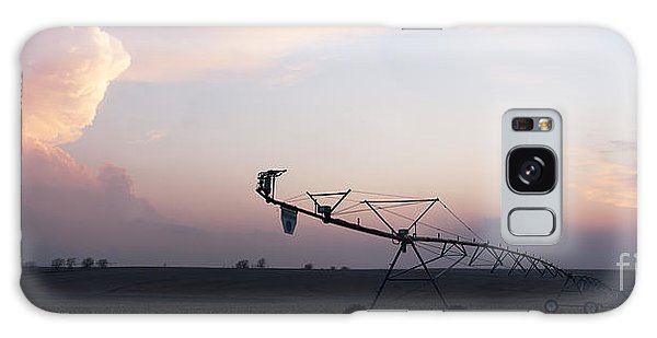 Pivot Irrigation And Sunset Galaxy Case by Art Whitton