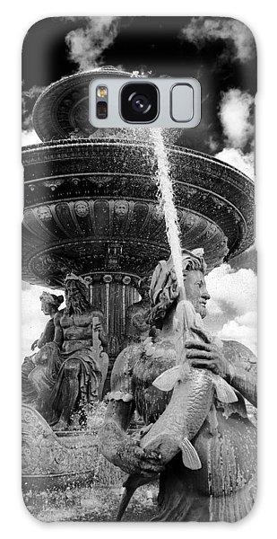 Galaxy Case featuring the photograph Place De La Concorde Fountain by Heidi Hermes