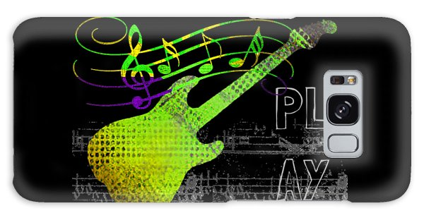 Galaxy Case featuring the digital art Play 1 by Guitar Wacky
