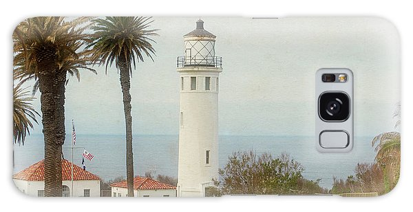 Point Vincente Lighthouse, California In Retro Style Galaxy Case