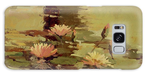 Pond Blossoms - Water Lilies Galaxy Case