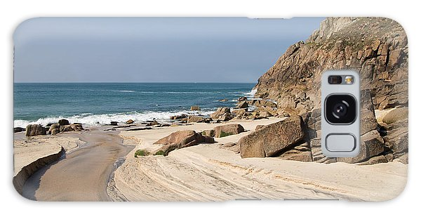Portheras Beach In Nw Cornwall Galaxy Case