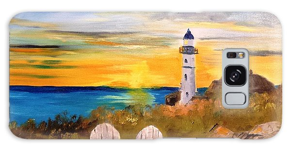Portland Head Lighthouse Galaxy Case by Larry Hamilton