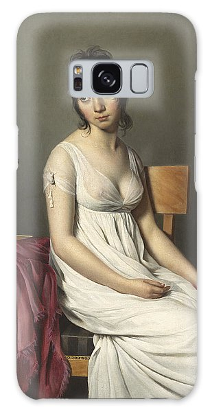 Portrait Of A Young Woman In White Galaxy Case
