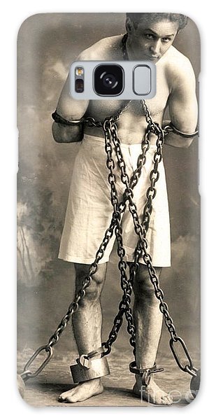 American Steel Galaxy Case - Portrait Of Harry Houdini In Chains. Circa 1900  by American School