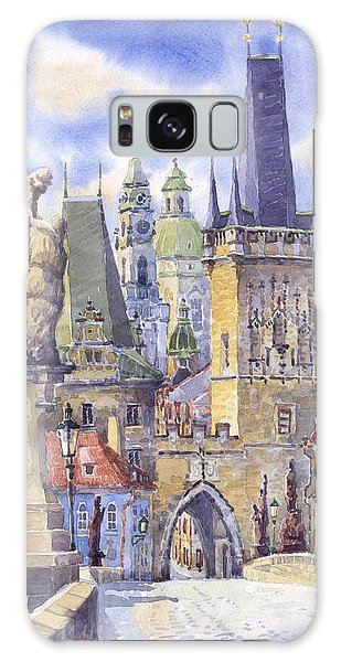 Watercolour Galaxy Case - Prague Charles Bridge by Yuriy Shevchuk