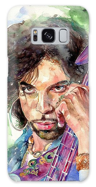 Modern Galaxy Case - Prince Rogers Nelson Portrait by Suzann's Art
