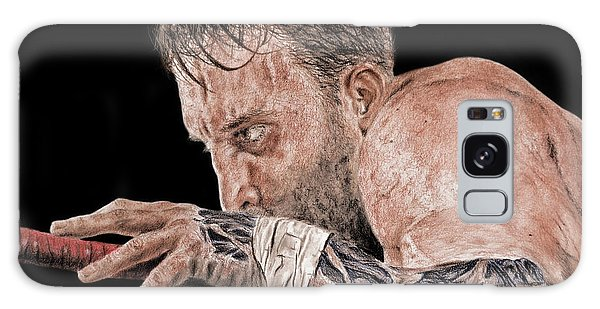 Hyper-realistic Galaxy Case - Pro Wrestler Chris Masters Planning His Move by Jim Fitzpatrick