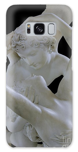 Mythological Galaxy Case - Psyche Revived By The Kiss Of Cupid by Antonio Canova