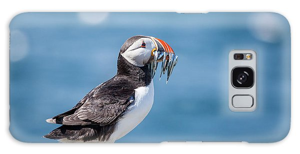 Puffin Galaxy S8 Case - Puffin With Fish For Tea by Anita Nicholson