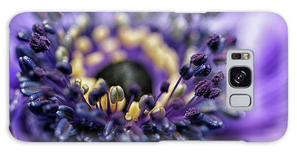 Purple Heart Of A Flower Galaxy Case