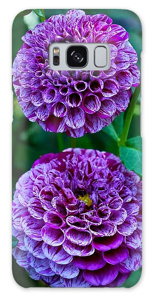 Purple Passion Dahlia  Galaxy Case