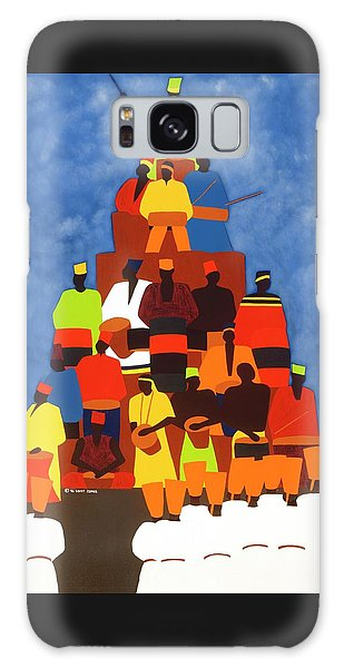 Galaxy Case - Pyramid Of African Drummers by Synthia SAINT JAMES