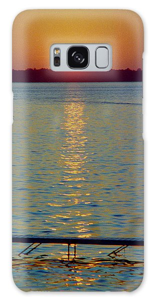 Quite Pier Sunset Galaxy Case