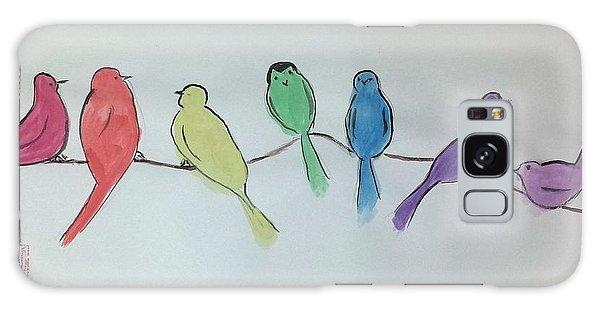Rainbow Birds Galaxy Case