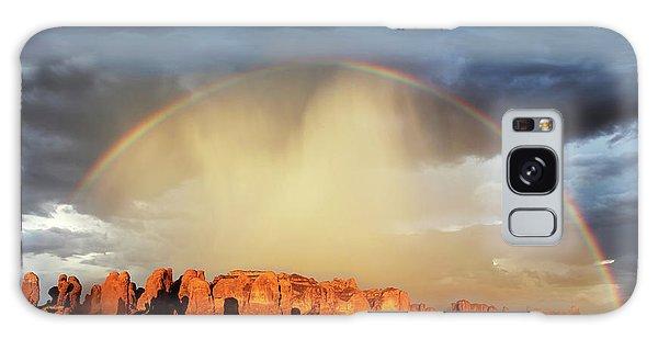 Rainbow Over Garden Of Eden Galaxy Case