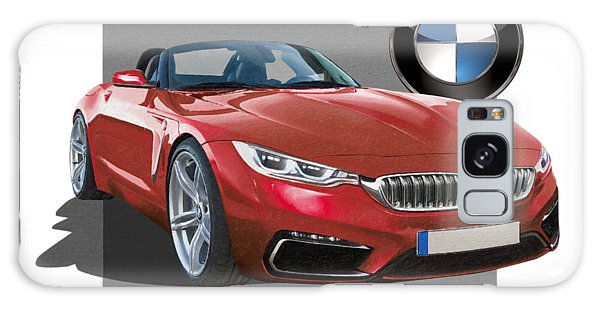 Automotive Galaxy Case - Red 2018 B M W  Z 5 With 3 D Badge  by Serge Averbukh