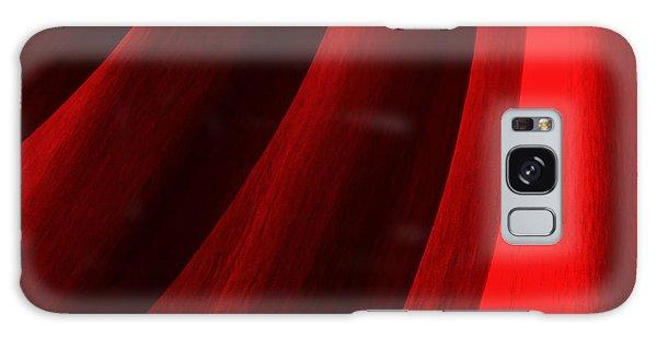 Red Chrysanthemum Dawn Rising Galaxy Case