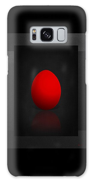 Pop Art Galaxy Case - Red Egg On Black Canvas  by Serge Averbukh