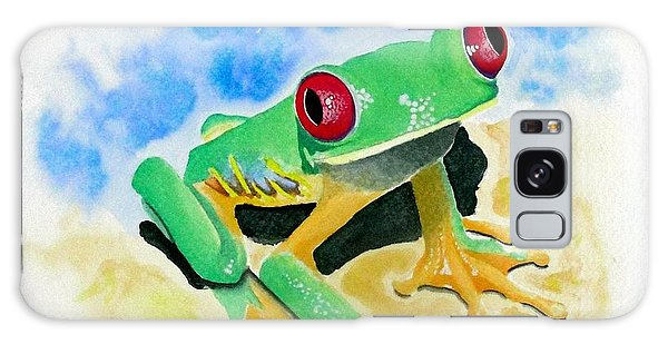 Red Eyed Tree Frog Galaxy Case by Jimmy Smith