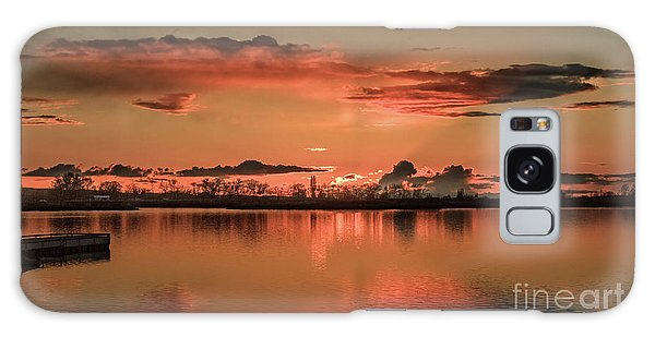 Red Glow Galaxy Case by Robert Bales