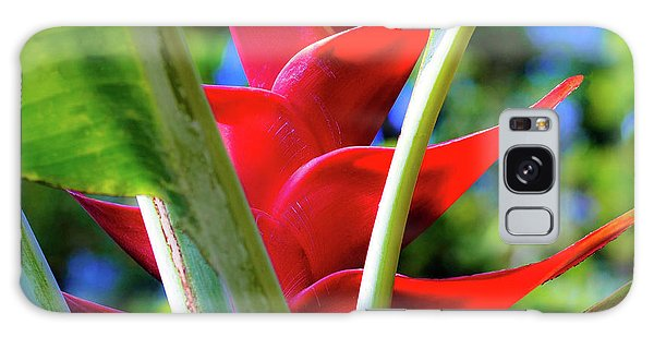 Red Heliconia Hawaii Galaxy Case