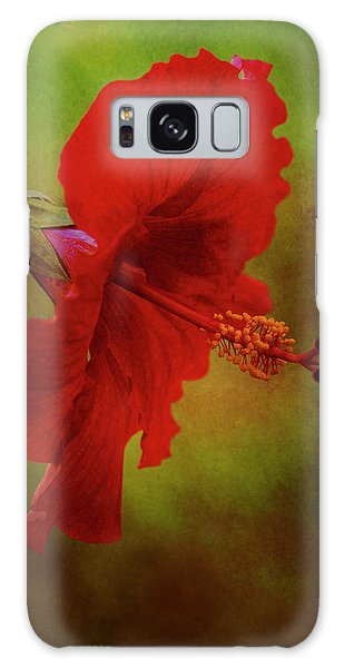 Red Hibiscus Art Galaxy Case