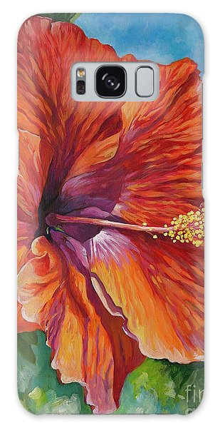 Hibiscus Galaxy Case - Red Hibiscus by John Clark