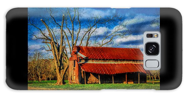 Red Roof Barn Galaxy Case