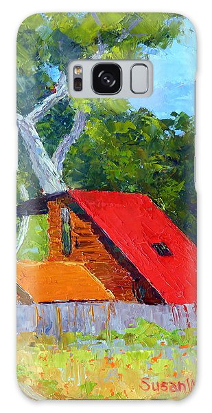 Red Roof Galaxy Case by Susan Woodward