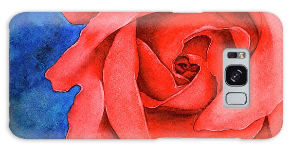 Red Rose Galaxy Case by Rebecca Davis