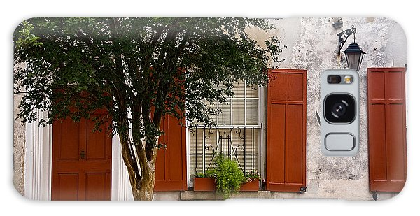 Red Shutters Galaxy Case by Susan Cole Kelly